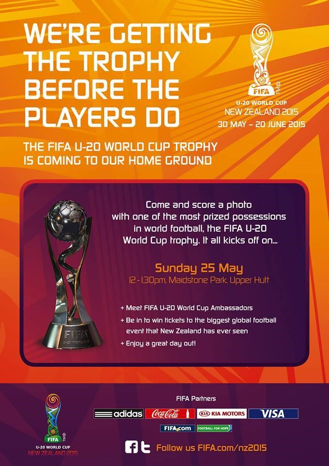 FIFA U20s World Cup Trophy Coming to Maidstone Park