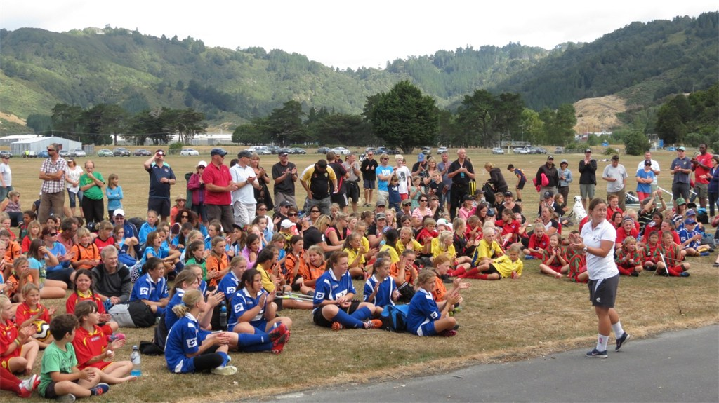 Girls Kick-It at Upper Hutt Football Tournament