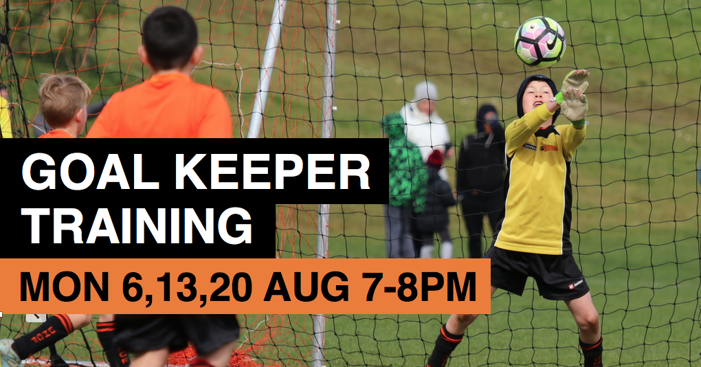 Goalkeeper training August 2018