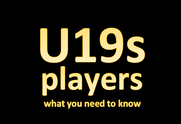 U19s – players read this