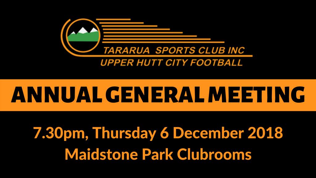Upper Hutt City Football AGM 2018