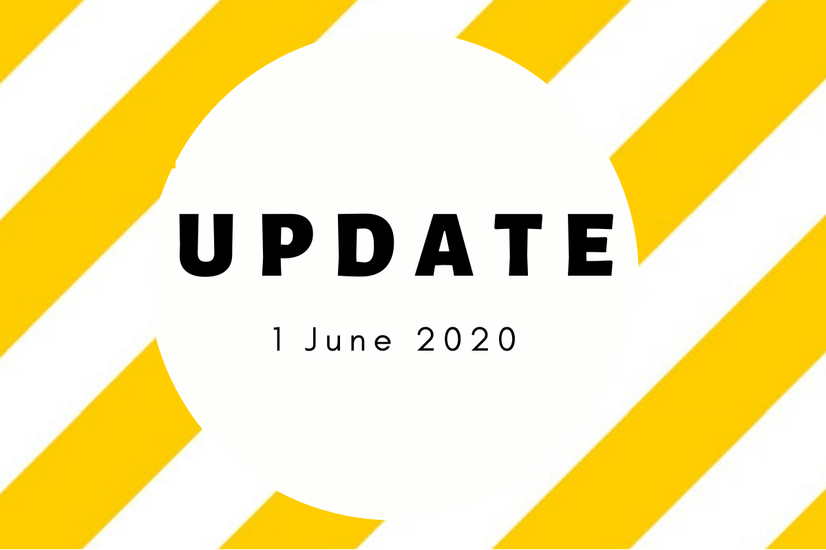 Return to Training – Update 1 June 2020